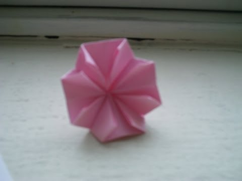 Origami Dogwood Blossom for Mothers' Day