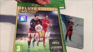 FIFA 16 Deluxe Edition Unboxing