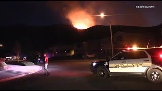 Family, pet dogs evacuate as brush fire threatens Riverside County homes I ABC7
