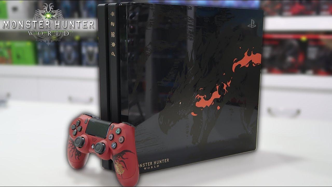 Mi Van A Dobozban Playstation 4 Pro 1tb Monster Hunter World Limited Edition Youtube
