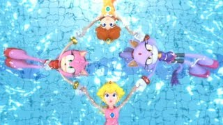 Mario and Sonic at the London 2012 Olympic Games (Wii) - Synchronized Swimming (All Characters)