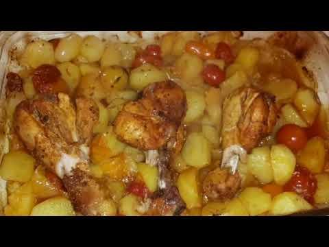 recette-de-poulet-mariné-au-four-🥘🥔🐓