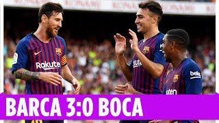 Messi mit Traum-Lupfer | Boca Juniors - FC Barcelona 0:3 | Highlights