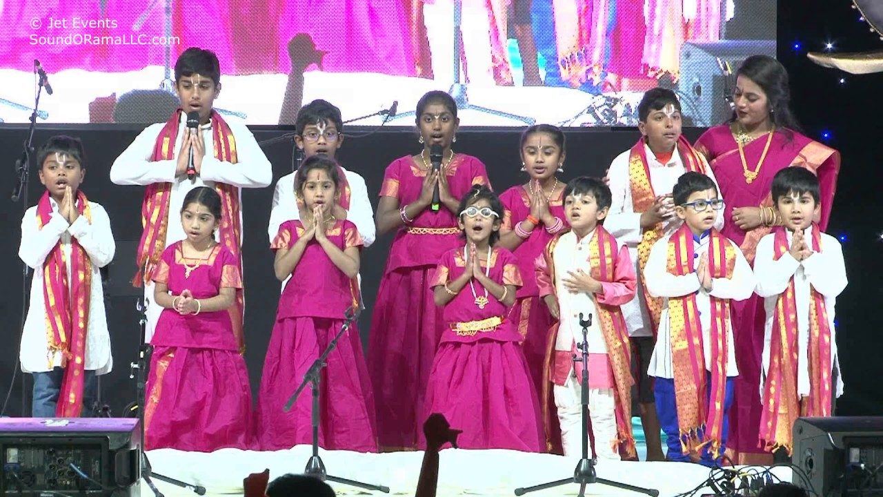 Kids chanting Pragna Shlokas at HH Chinna Jeeyar Swamiji Sashtipoorthi Celebrations