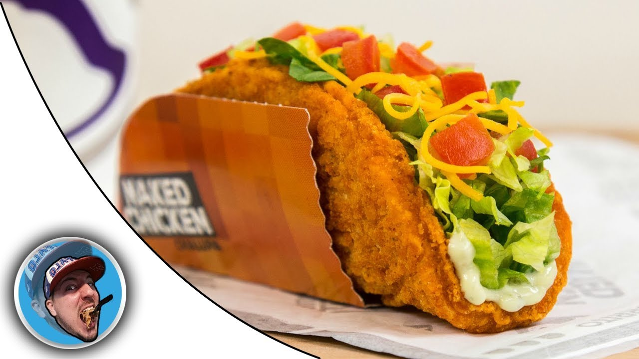 Taco Bells Naked Chicken Chalupa Food Review Youtube