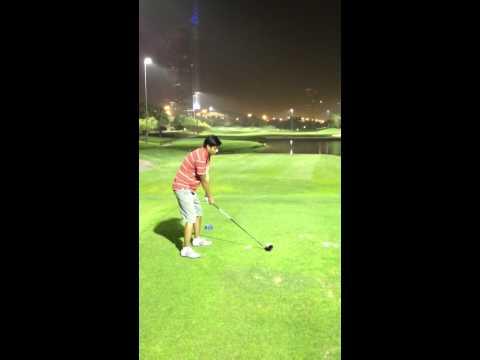 Night Golf in Emirates Golf Club Dubai