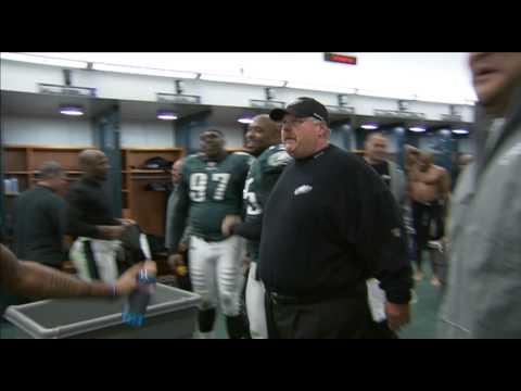 Andy Reid Locker Room Patriots