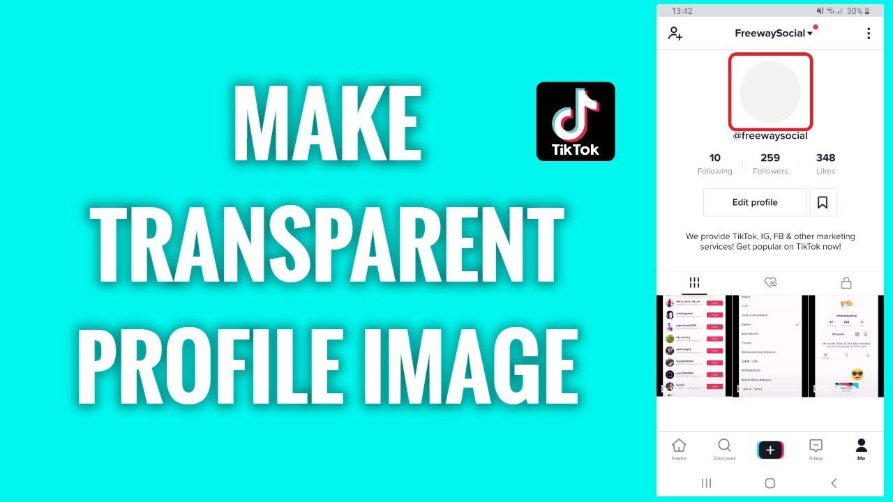 How To Make A Transparent Tiktok Profile Image Youtube