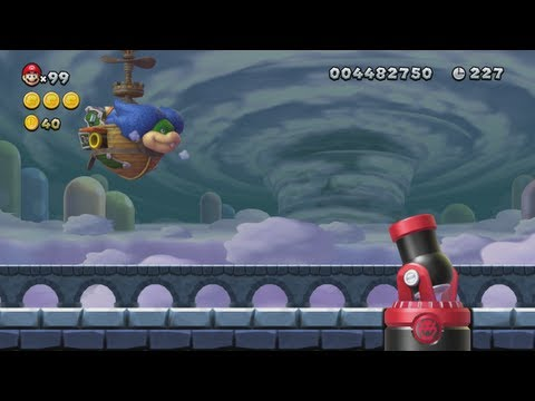 New Super Mario Bros. U - Meringue Clouds (Complete World 7)