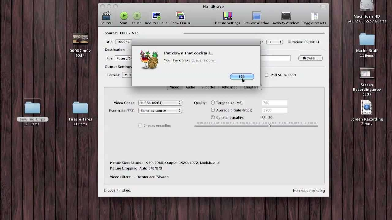 Tutorial: Convert Sony & Panasonic camera  MTS video into  MP4 for use on a  Mac    for free!