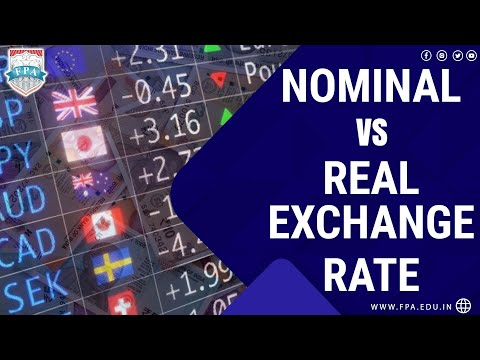 Nominal Exchange Rate v/s Real Effective Exchange Rate