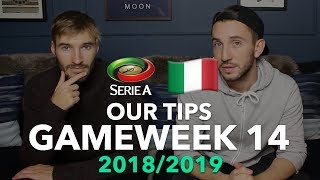 Serie A Tips - Gameweek 14 - 2018/2019