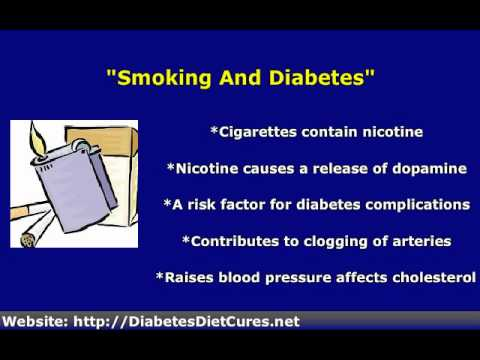 Smoking And Alcohol With Type 2 Diabetes