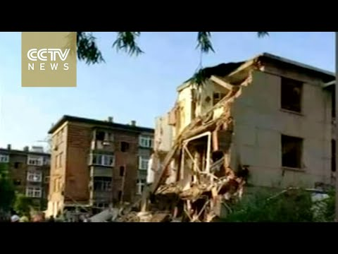 Building explodes and collapses in Liaoning province