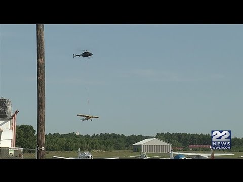 Plane lifted off Quabbin Reservoir sandbar, brought to Orange Airport