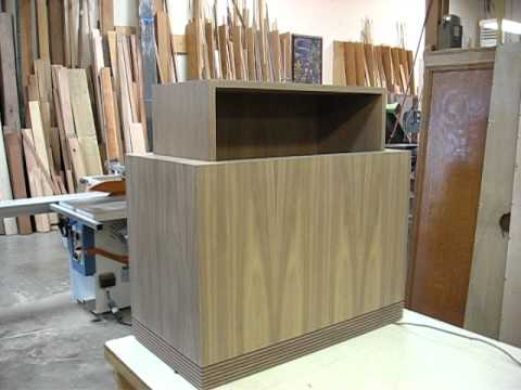 Walnut Cabinet With Hidden Tv Lift Youtube