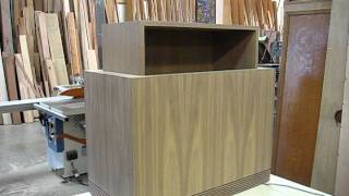 Walnut Cabinet With Hidden Tv Lift.