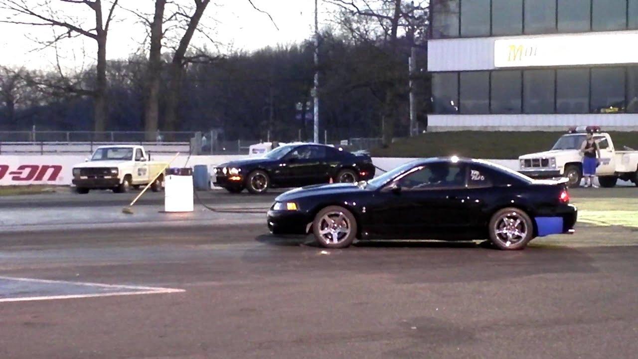 2004 Mustang Cobra VS 2005 Mustang GT Fast 14 Mile Drag 1080P