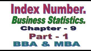 Index Number, Bangla Tutorial Part 1, Business Statistics.
