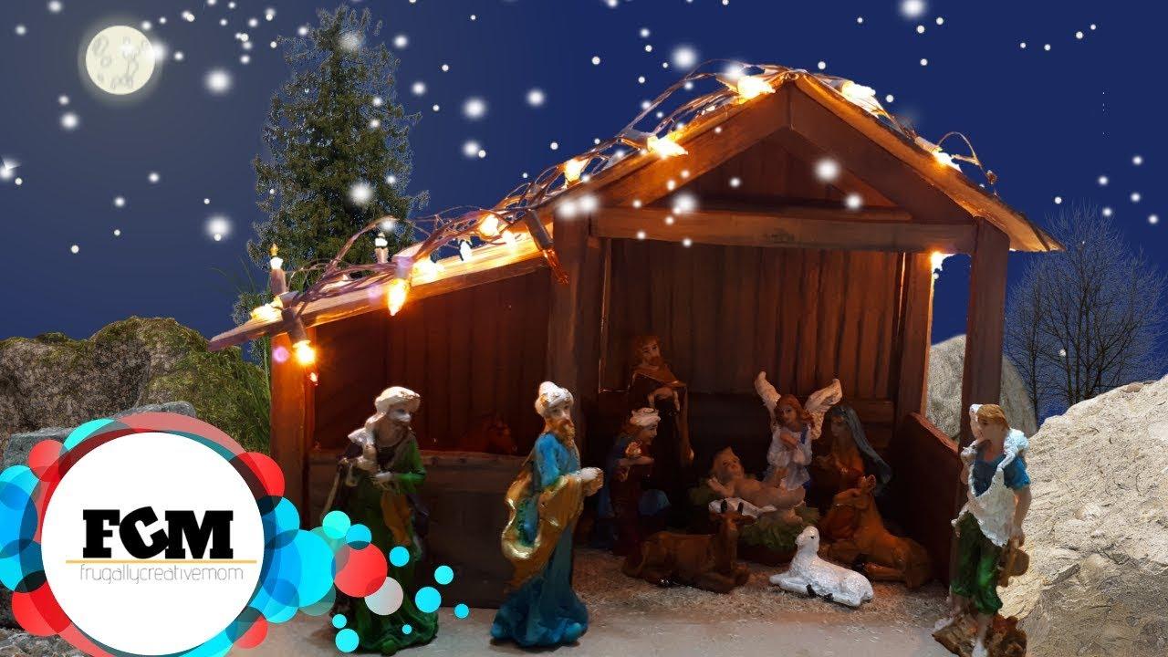 Diy Christmas Nativity Scene For Indoors Cardboard Youtube