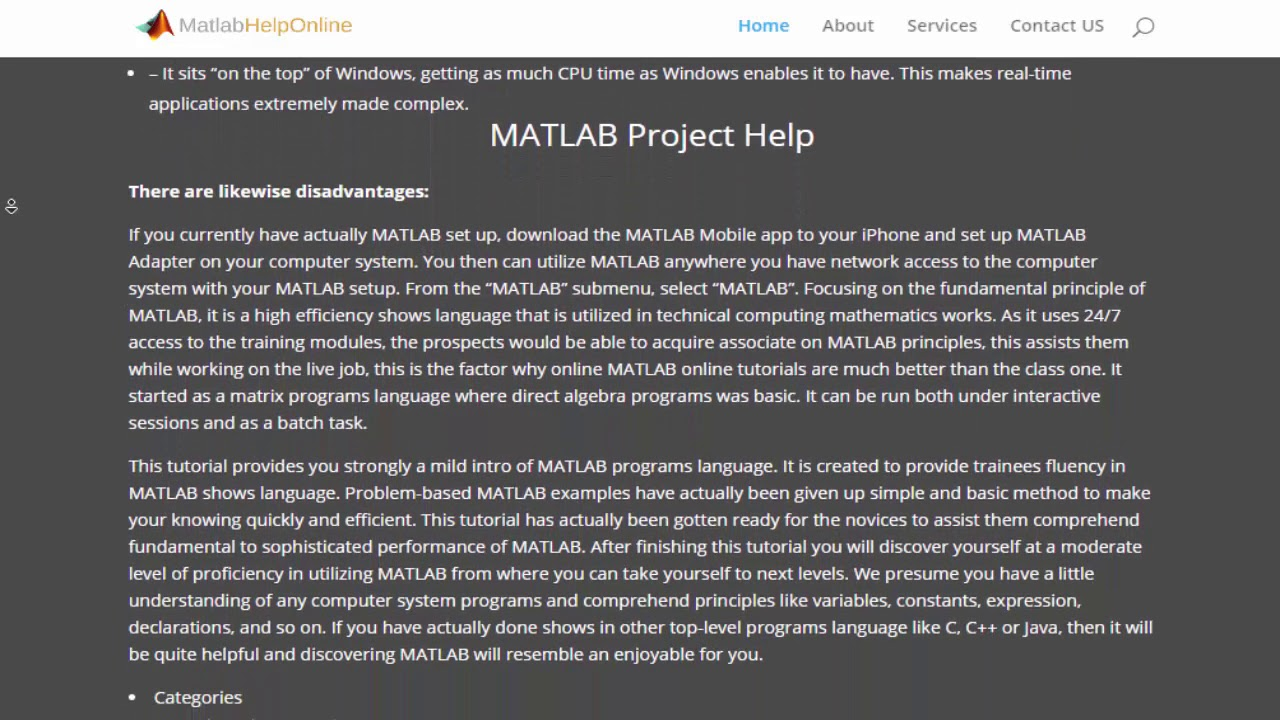 Online Help for Matlab Assignments, Matlab Project and
