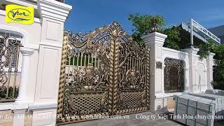 Cổng nhôm đúc biệt thự Biên Hòa
