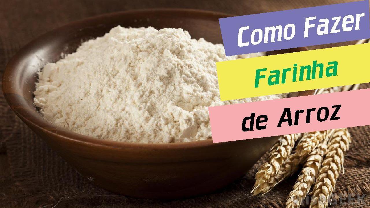 Como fazer farinha de arroz super f cil youtube for Cocinar 2 tazas de arroz