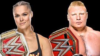 Gambar cover [Becky vs Ronda] Ronda Rousey with Brock Lesnar theme song