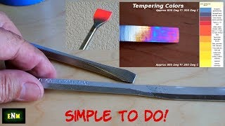 How To Heat Treat / Temper Hand Tools & More!