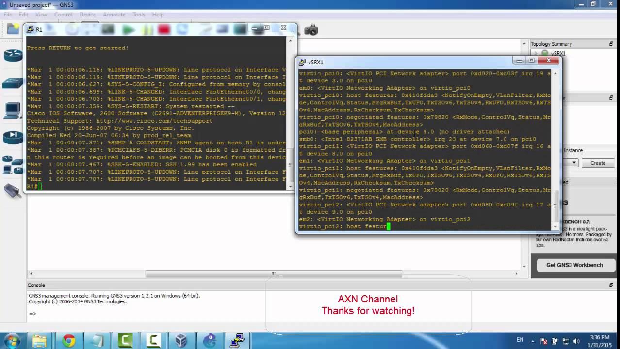 Juniper vSRX Firefly on GNS3