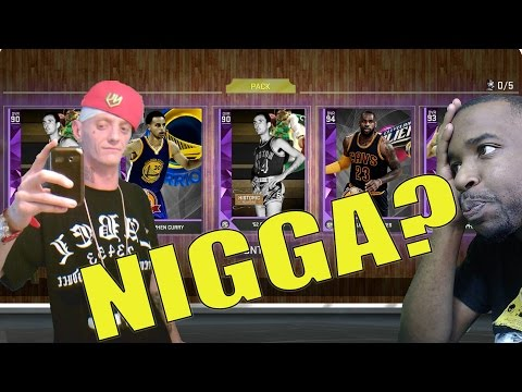 White Kid Says Nigga! NBA 2k16 MyTeam Top 5 Pack Opening Reactions! BOB COUSY