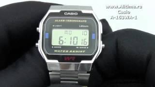 Чоловічі японські наручний годинник Casio A-163WA-1