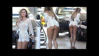 Ana Braga Showoff in See Through Malfunction Dress