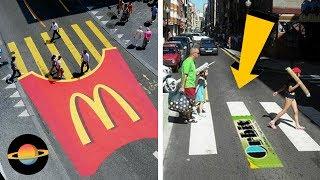 10 kreatywnych reklam na przejściach dla pieszych
