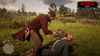 Red Dead Redemption 2 lasso + fire technique