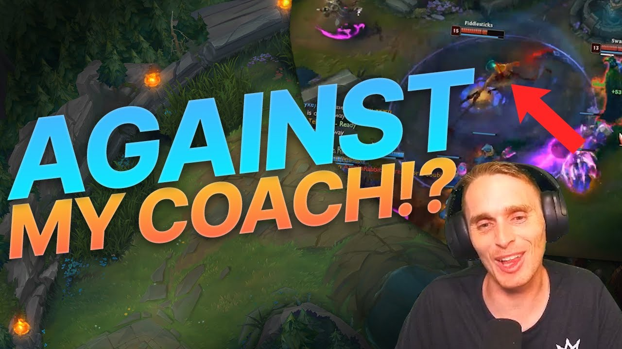 League of Legends but its Random Roles and im against one of my coaches?!