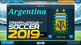 How To Kits Argentina Logo  2018( Dream League Soccer 2019