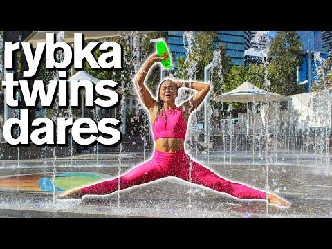 Embarrassing TWIN vs TWIN Acro Dares / ft Rybka Twins - Jordan Matter