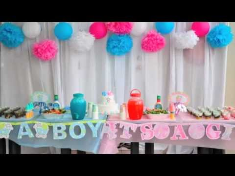 Baby gender reveal party cute fun idea Nhut Uyen YouTube – Announcing the Gender of the Baby Ideas