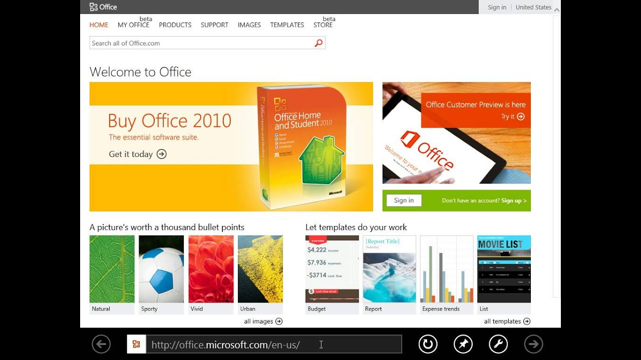 Windows 8 0 Professional View A Web Page On The Desktop Version Of