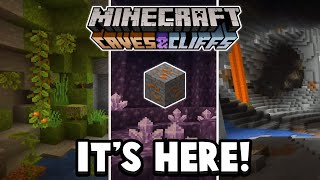 Minecraft 1.17 - Cave And Cliffs Update NEW ORE & MORE