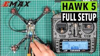 Emax Hawk 5 FPV racing drone review part 2 - detailed setup, FrSky XM+, Taranis X9D, Betaflight