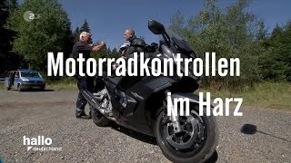 Motorrad Kontrollen im Harz