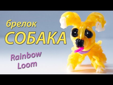 СОБАКА (щенок) из Rainbow Loom Bands. Урок 98