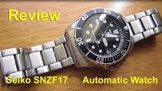 Seiko SNZF17 Sea Urchin Automatic Watch - Review