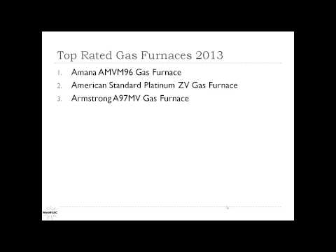 Top Rated Gas Furnaces 2013