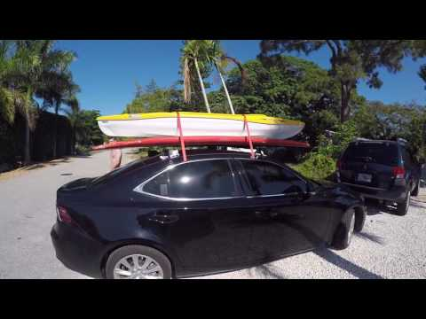 how to load a kayak paddle board on a small car youtube. Black Bedroom Furniture Sets. Home Design Ideas