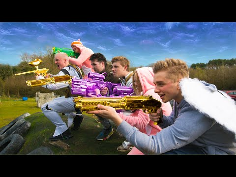 Real Life PAINTBALL Fortnite Battle Royale