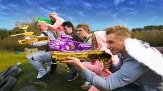 Real Life PAINTBALL Fortnite Battle Royale thumbnail