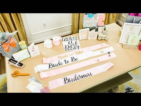 DIY Bachelorette Sash - Hallmark Channel